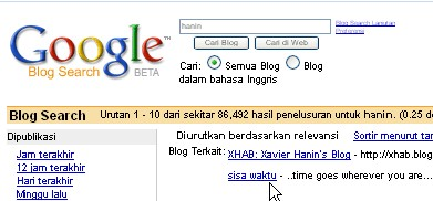 hanin google blog search result