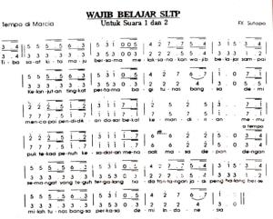 notasi mars wajib belajar